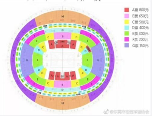 季后赛广东战新疆门票开售 最高800元最低150元