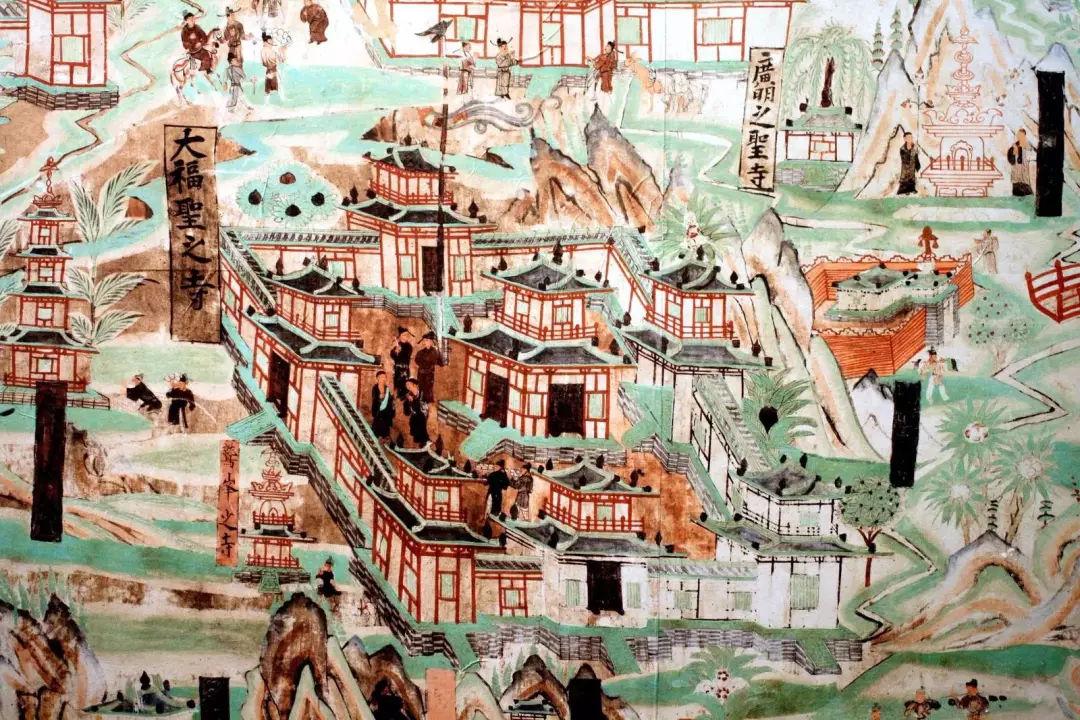 带您赏析敦煌莫高窟千年前的《五台山图》图片