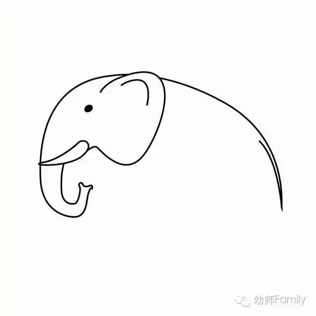 简笔画 大象和猴子