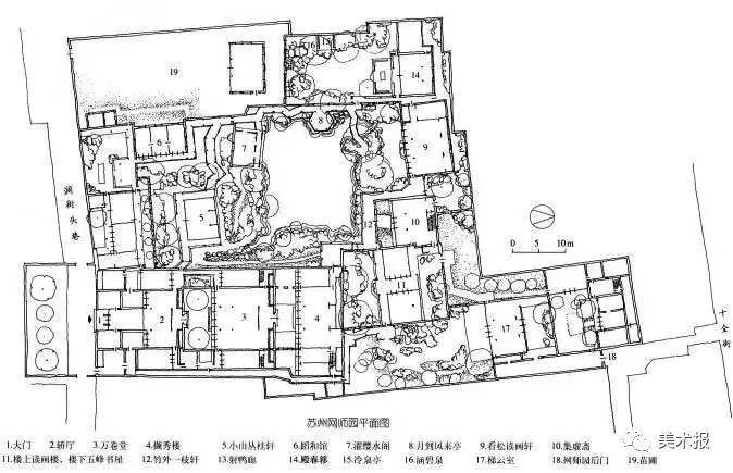 网师园平面图