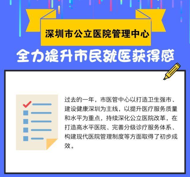 【服务】提升市民就医获得感,深圳市公立医院管理中心一直在努力!