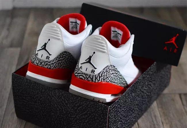 """罕见配色出售!白红 Air Jordan 3 """"Katrina"""" 发售日期确定!"""