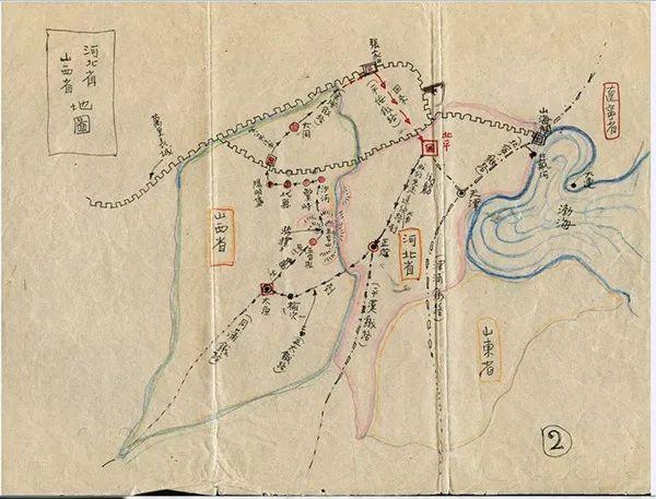 林徽因手绘考察地图