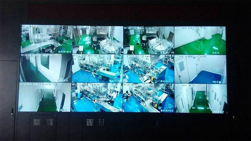 深圳娱乐场所监控展示一体化4k拼接屏