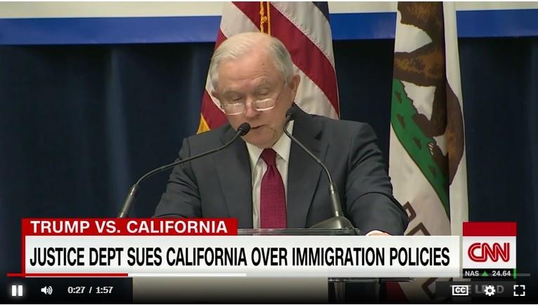 联邦政府控告加州庇护移民法律违宪 州总检察长反击