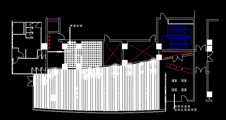 顶棚平面图,地面平面图,装饰平面图,立面图及节点图,可供学习cad室内