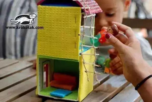 母婴 正文  创意手工制作纸板城市 孩子在家吃零食,肯定积攒了很多空