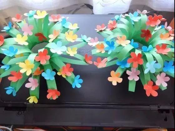 手工制作—手工花树和卡纸花吊饰,简单美丽