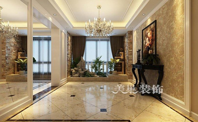 黄色背景墙展现休闲氛围,本案效果为港式风格,客厅以黄色为主调,展现图片