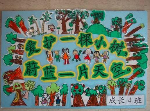【主题环创】植树节 | 主题环创&手工制作一网打尽图片