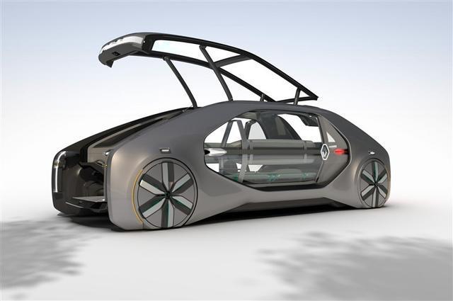 雷诺,智能自动驾驶出租车来袭,不仅空间超大,这外观更具未来感