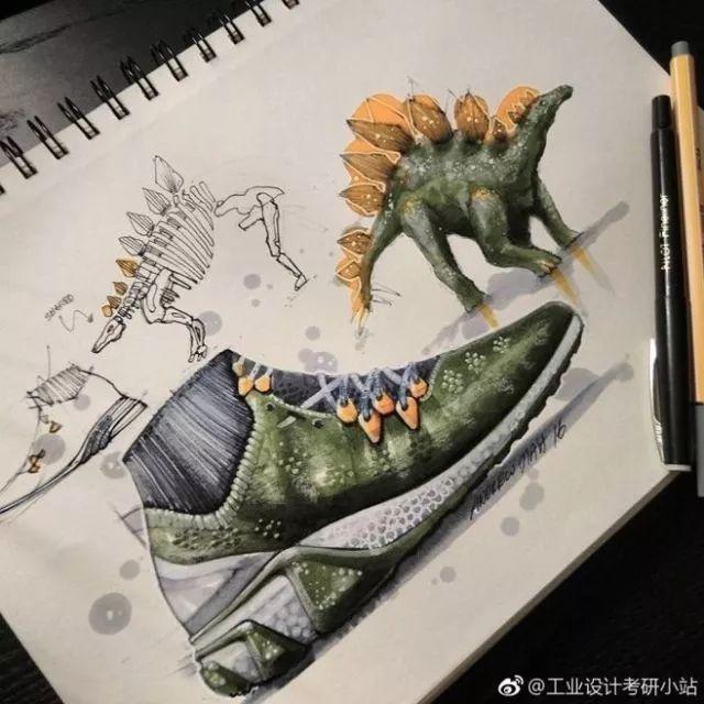 01 球鞋仿生设计 提取企鹅的造型元素 提取剑龙的造型元素 背骨,皮肤图片