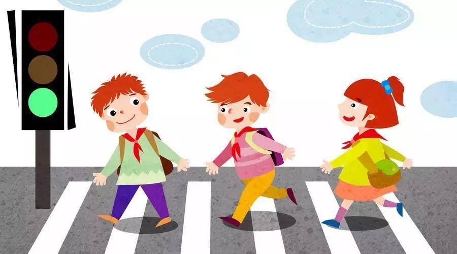 小学生放学回家时要头戴小黄帽,在雾,雨,雪天,最好穿着色彩鲜艳的图片