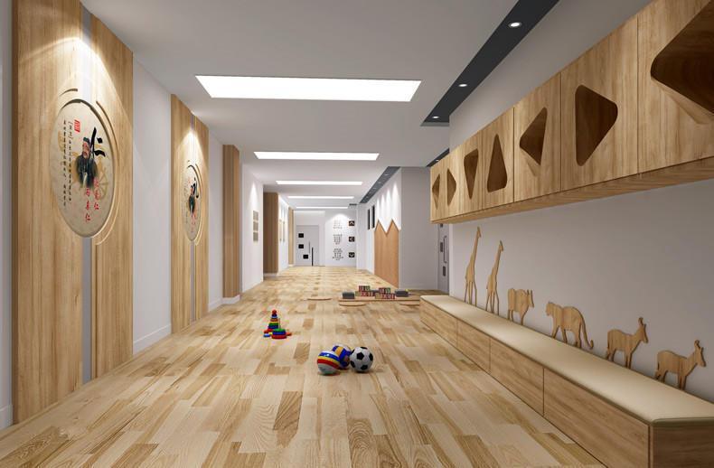 金宝贝装饰:1500平米新中式幼儿园室内装修效果图,案例赏析图片