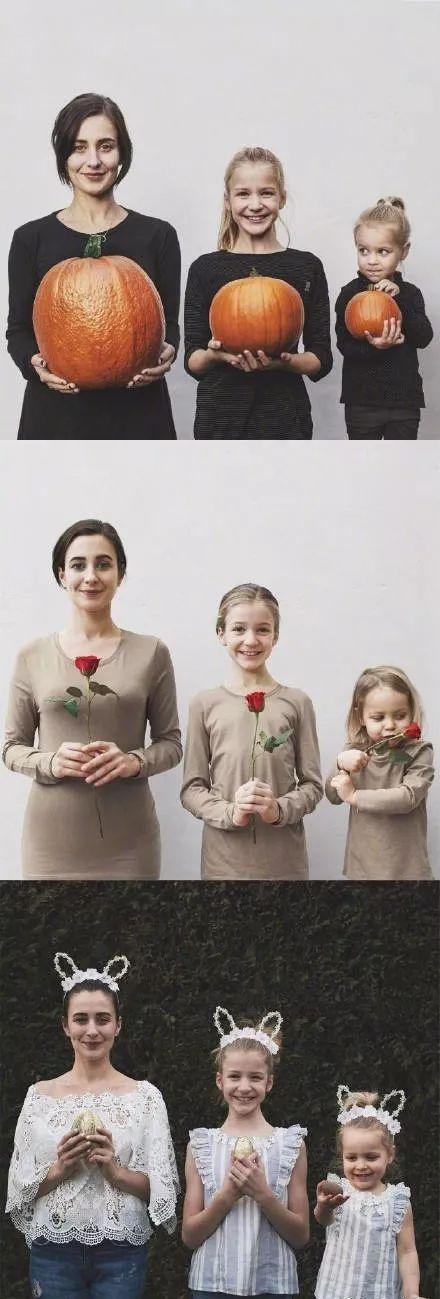 penny 安静的时候~ (创意家庭照姿势大全) 中国传统的家庭亲子照 少了图片