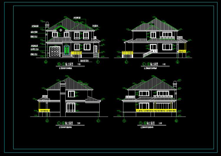 铺面建房cad设计图