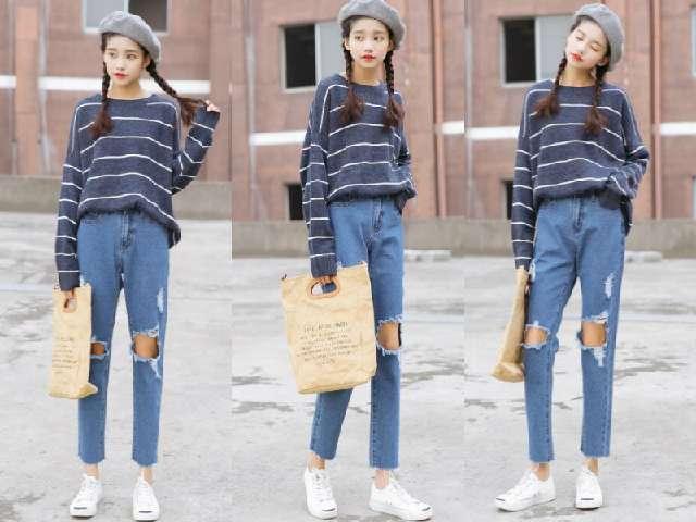 2018最流行的牛仔裤款式,学这5种搭配显瘦度飙升图片