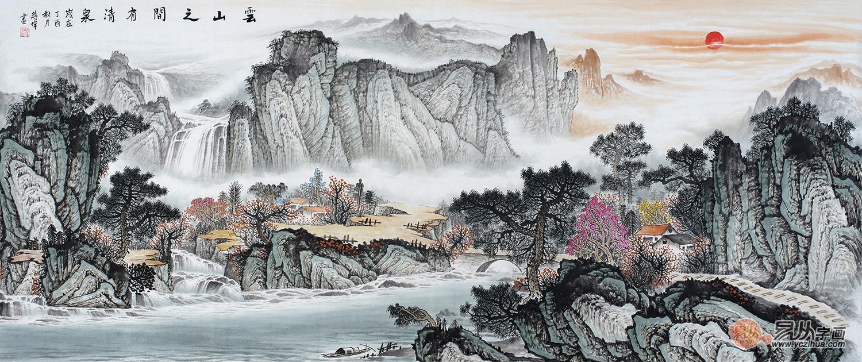 家有书房,中式书房装饰山水画更有格调