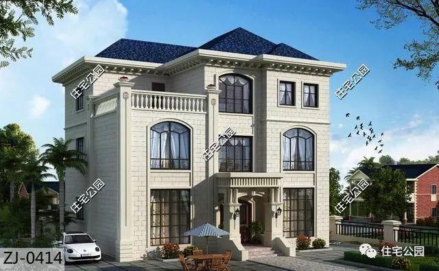 经典3层农村别墅,4套外观4种布局,30到50万建好,哪个适合你?
