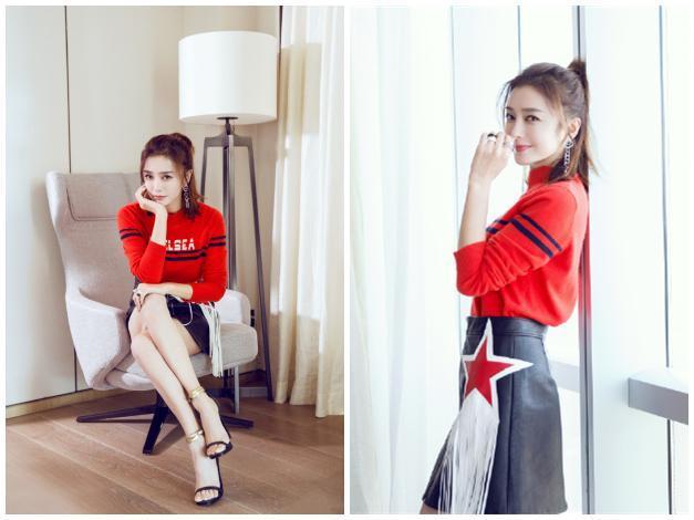 秦岚姐姐在秀大长腿的同时还隐约有丝少女感? 风格偶像 图8