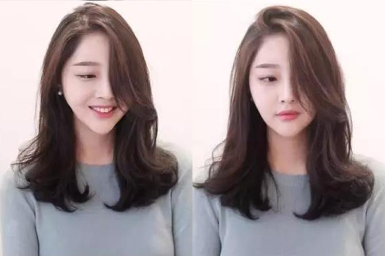 2018年流行的烫发发型,中长发烫发美得恰到好处图片