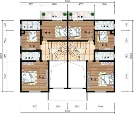 建房网2层三间设计图