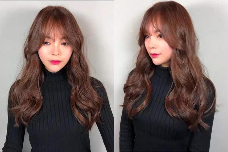 韩式大卷烫卷设计的中长发烫发当下很流行.图片