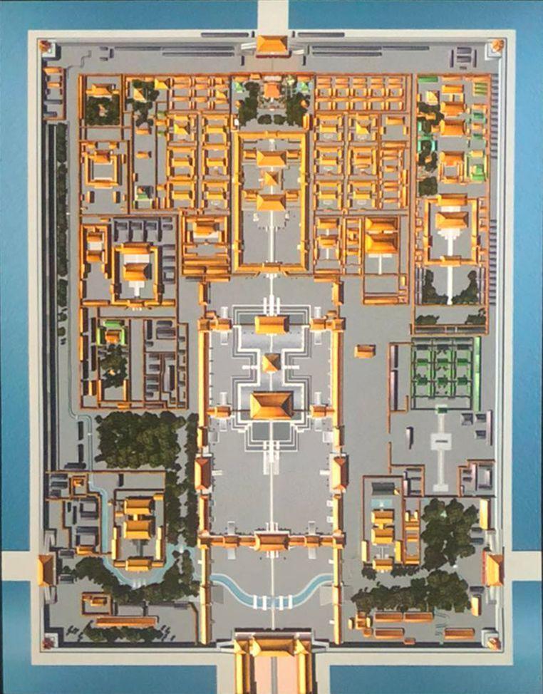 故宫平面图手绘简单