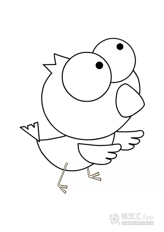 简笔画 小鸡
