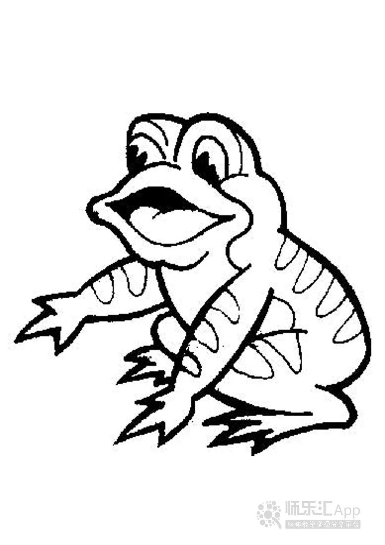 适合孩子涂色的动物简笔画(可打印)