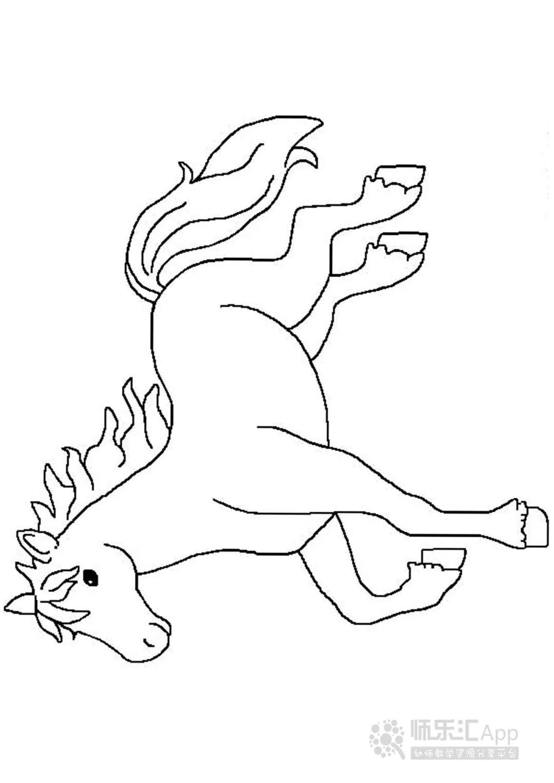 动物简笔画大全 简笔画马 马的简笔画图片1动物简笔画