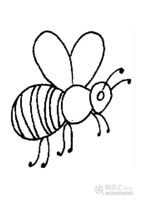 适合孩子涂色的动物简笔画