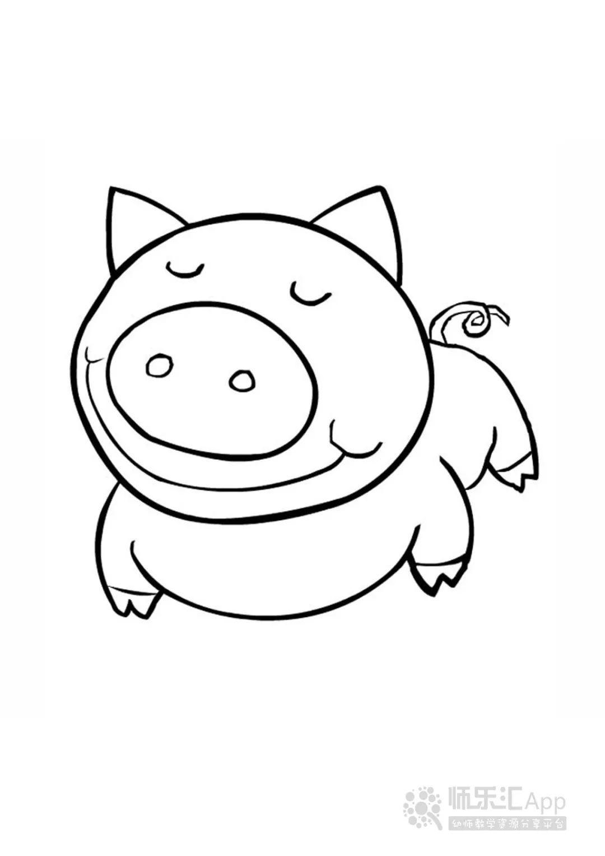适合孩子涂色的动物简笔画 可打印