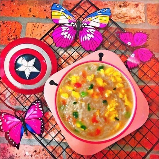 輔食:西紅柿雞蛋排骨麵,營養超高還格外的好次~