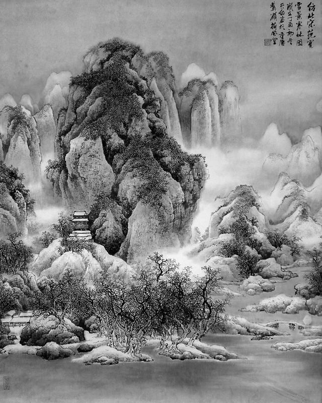 画家杨天佑山水画传统与现代的嬗变图片