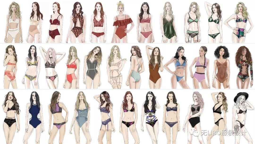 100張女裝內衣泳裝效果圖 (高清素材免費領取)
