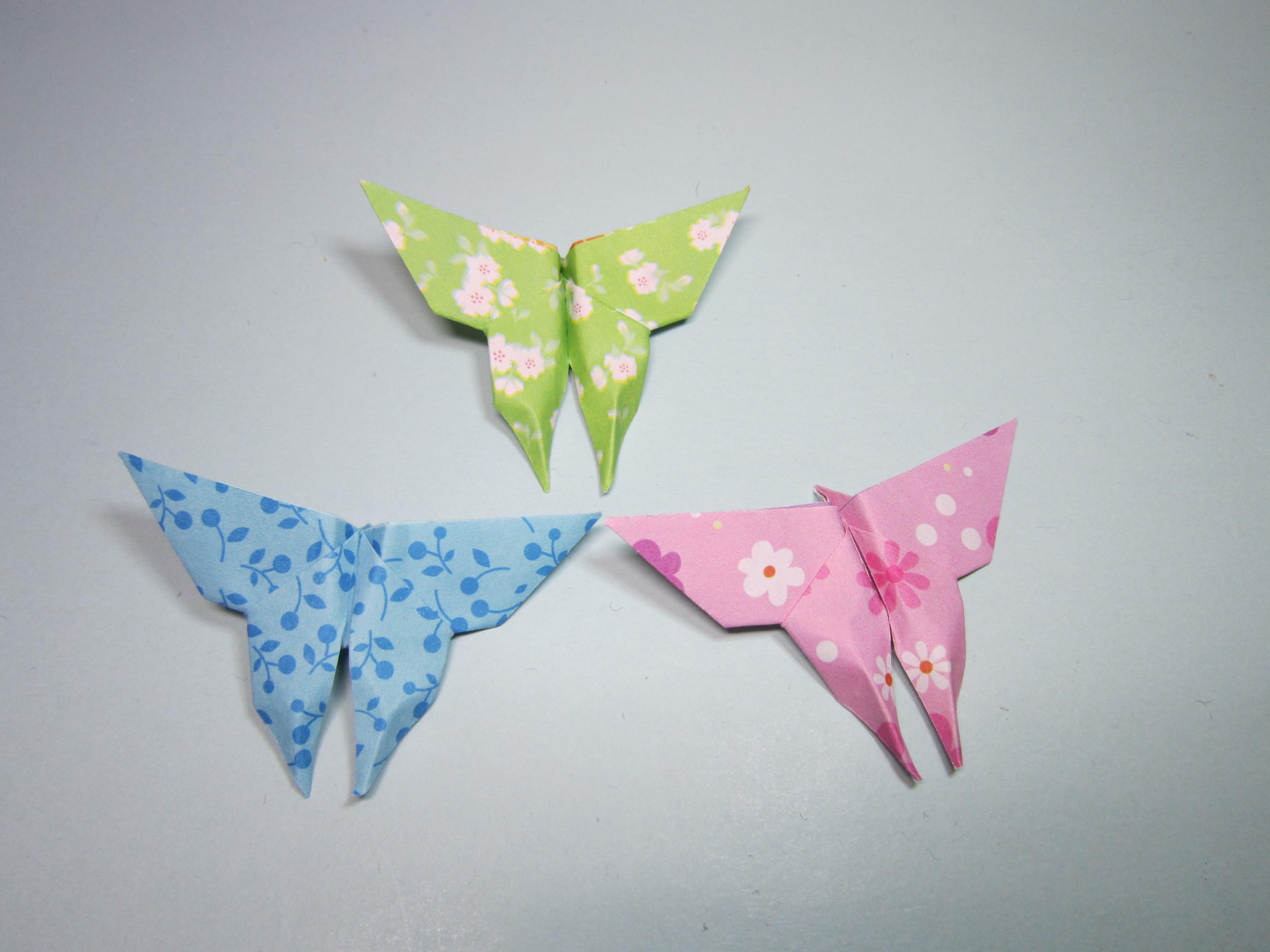 2分钟学会蝴蝶的折法,简单又漂亮的蝴蝶手工折纸教程