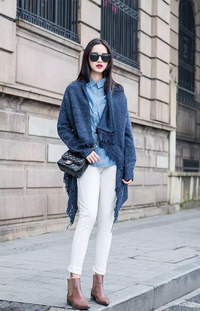 一件针织开衫搞定早春所有搭配,气质又显瘦