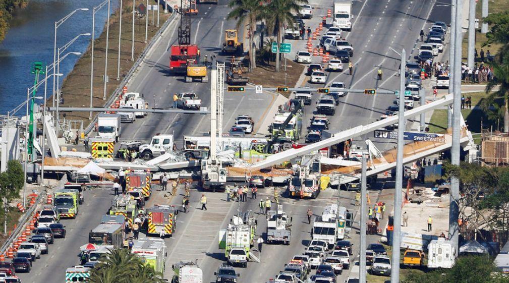 """美国坍塌天桥建筑公司""""黑料""""缠身却备受当局"""
