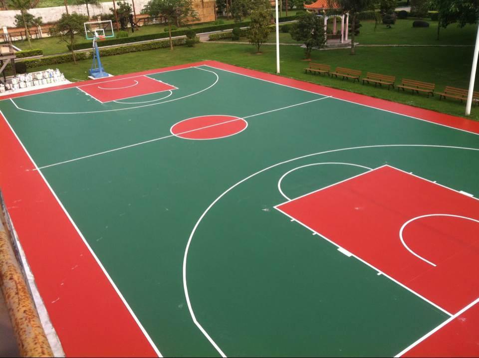 硅pu篮球场一般的厚度是多少图片