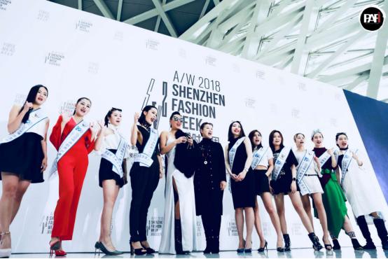 2018年深圳时装周:时尚达人唐拉拉率领世界超模现身,轰动全场