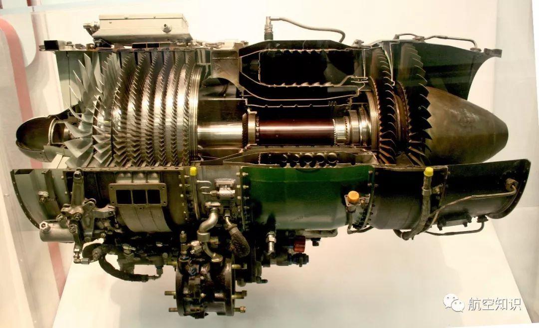 典型的轴流式涡轮喷气发动机图片
