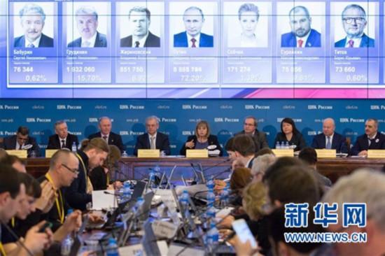 俄中央选举委员会:普京在俄总统选举中保持领先
