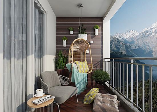 2018你必须要看的创意阳台装修效果图