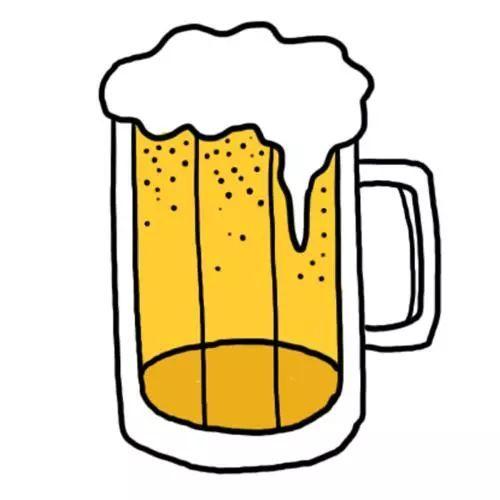 手绘精酿啤酒宣传海报