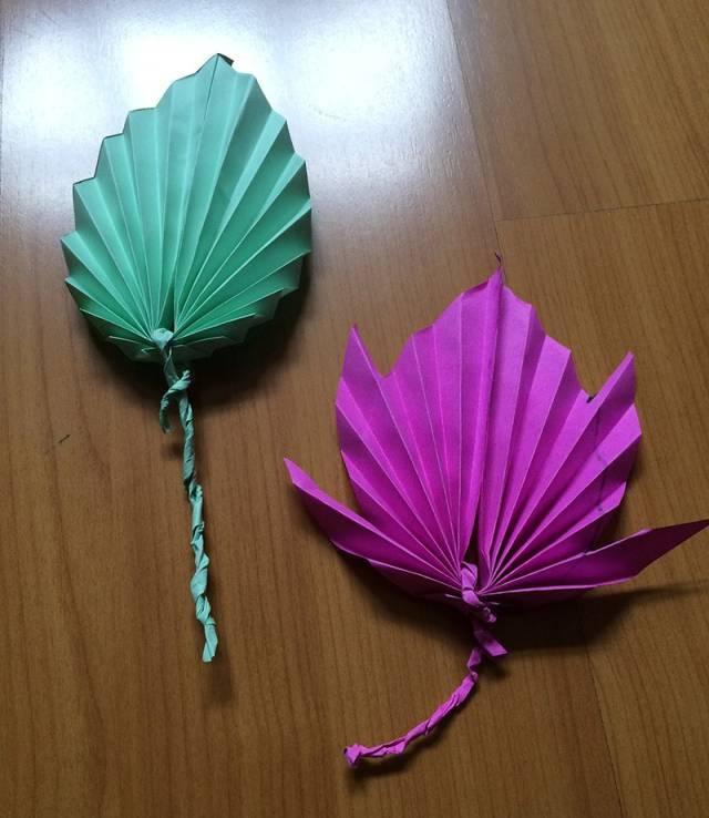 创意手工折纸树叶
