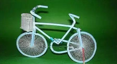 【创意手工】儿童手工制作自行车,效果绝对震撼!收藏