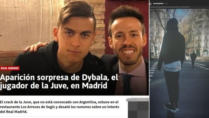 曝迪巴拉并未接触皇马意媒:只是去马德里度假