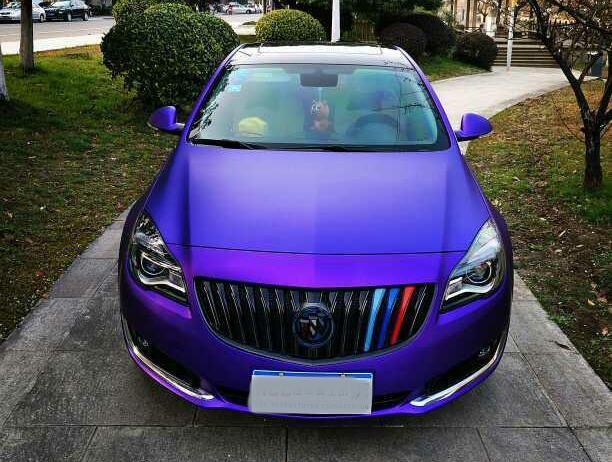 别克君威离合冰紫金属汽车贴膜效果图展示奥迪a6allroad的双车身图片