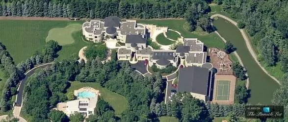 NBA巨星们的豪宅:库里跟科比相比简直就是宿舍